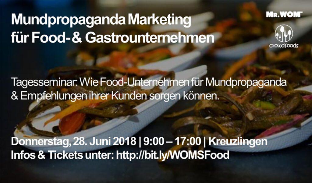 Mr.WOM Food-Seminar